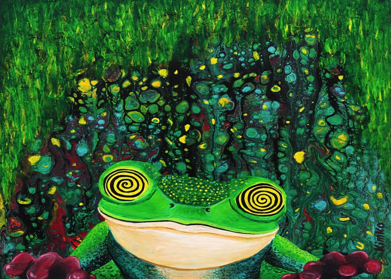 ' Tripping frog '