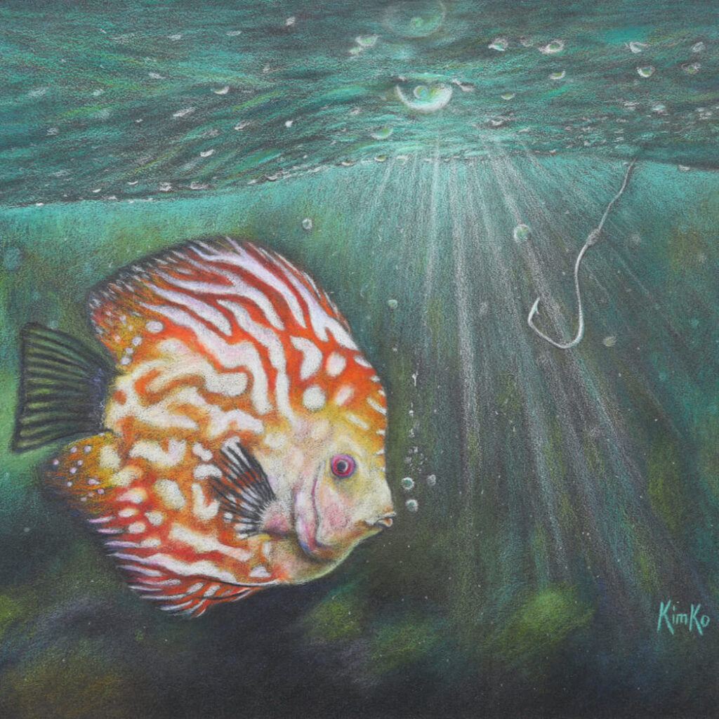 Easy catch or not? - colored pencil
