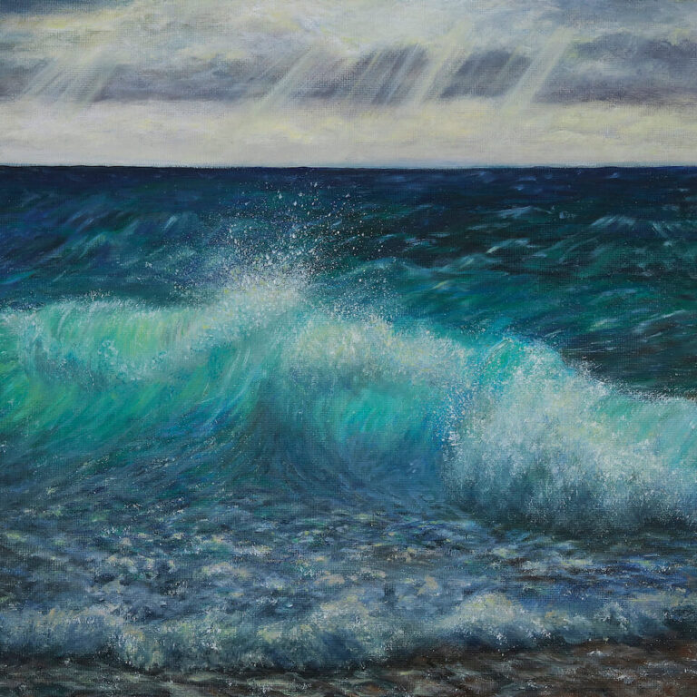 Sea in emotion - oil painting